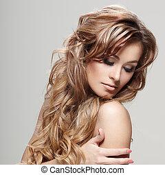 pelo, rizado