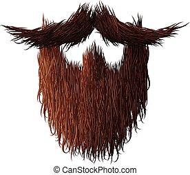 peloso, fare la barba, riccio, no, novembre, forte, man.,...