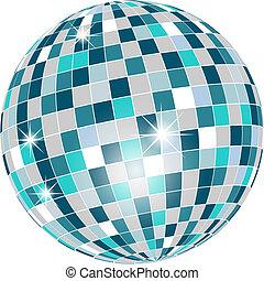 pelota, aislado, disco, verde, tonos