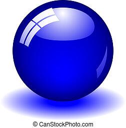 pelota azul
