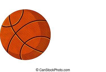 pelota, baloncesto, aislado, ilustración, acción