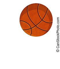 pelota, baloncesto, aislado, plano de fondo