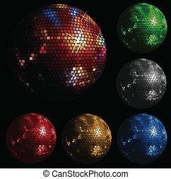 pelota, brillante, disco