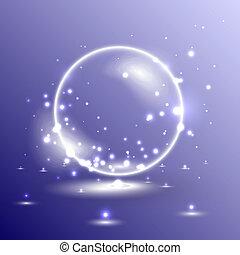pelota, brillante, ilustración