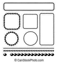 pelota, cadena, marcos