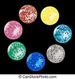 pelota, colección, disco