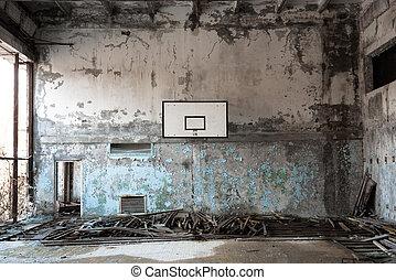 pelota de canasta, habitación, chernobyl