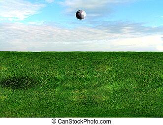pelota de golf, vuelo