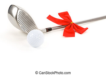 pelota de golf, y, conductor