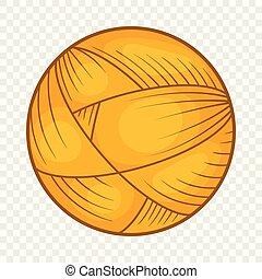 pelota de lana, hilo, para, tejido de punto, icono,...