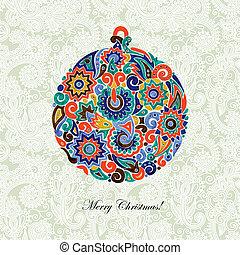 pelota de navidad, dibujo marcador