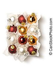 pelota de navidad, en caja