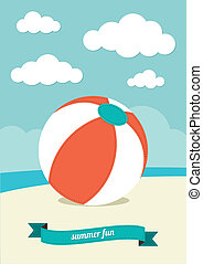 pelota de playa, arena