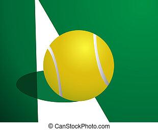 pelota de tenis, afuera