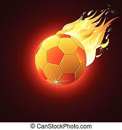 pelota del fútbol, bola de fuego
