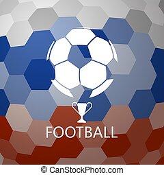 pelota del fútbol, en, resumen, plano de fondo