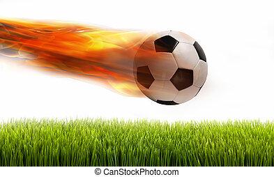 pelota del fútbol, fire.