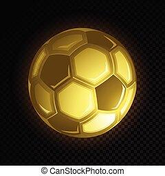 pelota del fútbol, oro