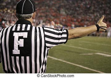 pelota del partido, árbitro