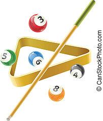 pelota del partido, señal, billiard