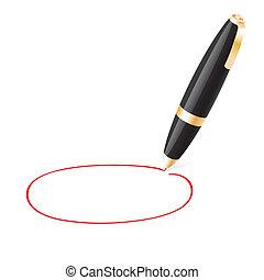 pelota, empates, plano de fondo, pluma, jauntily, círculo, blanco