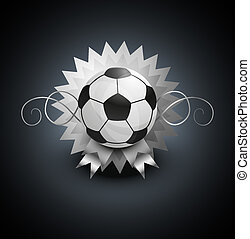 pelota, fútbol, plano de fondo