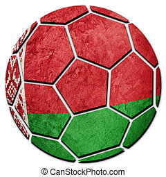 pelota, flag., nacional, fútbol, belarus, belorussian, futbol, ball.