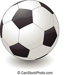 pelota, futbol, ilustración