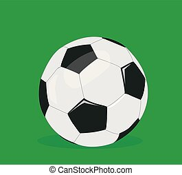 pelota, futbol, vector, ilustración