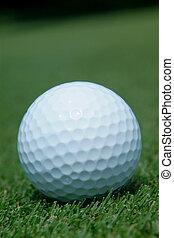 pelota golf, en, verde