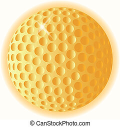 pelota, golf, oro