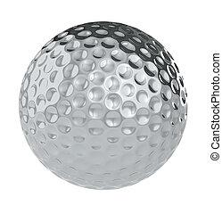 pelota, golf, plata