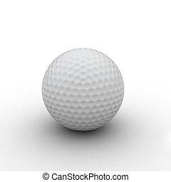 pelota, golf, render, 3d