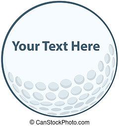 pelota, golf, señal