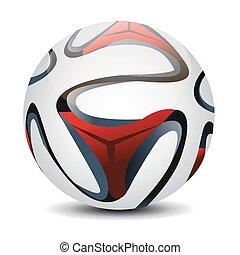 pelota, ilustración, vector, futbol