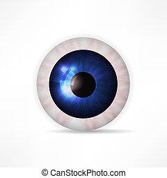 pelota, ojo