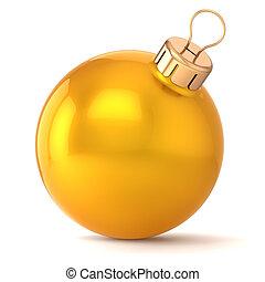 pelota, oro, eva, años, nuevo, navidad