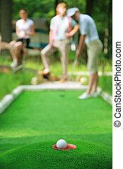 pelota, para, un, golf