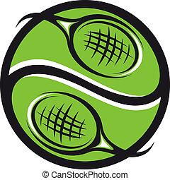 pelota, raquetas del tenis, icono