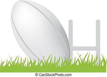 pelota rugby, postes