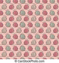 pelota, tejido de punto, patrón, seamless, hilo, artes