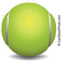 pelota, tenis, ilustración