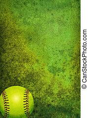 pelota, textured, plano de fondo, sofbol