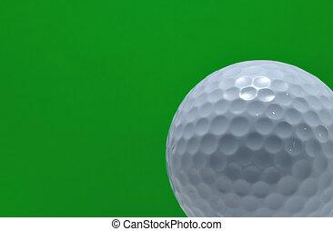 pelota verde, golf, plano de fondo