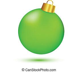 pelota, verde, navidad