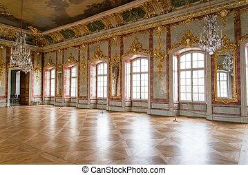 pelota, vestíbulo, palacio