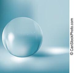 pelota vidrio, 3d