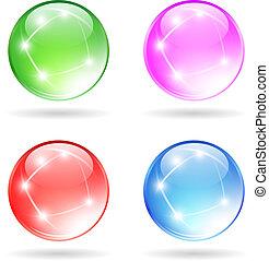 pelota vidrio, brillante