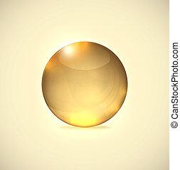 pelota vidrio