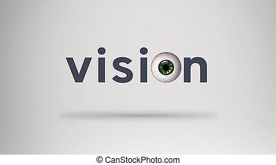 pelota, visión, ojo